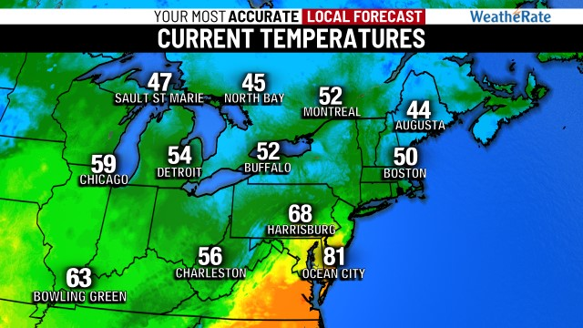 Northeast Temperatures