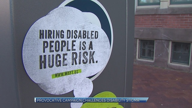 'What are you thinking?': Provocative campaign targets disability stigma