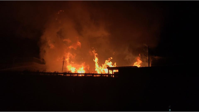 Crews battle fire at Weaber Lumber in Lebanon County