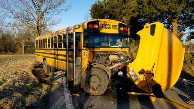 No students injured in Dover Township school bus crash