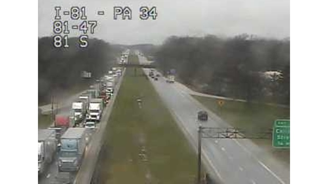 Crash slowing I-81 North near Carlisle