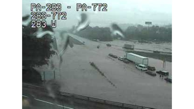 Route 283 reopens after flooding in Lancaster County