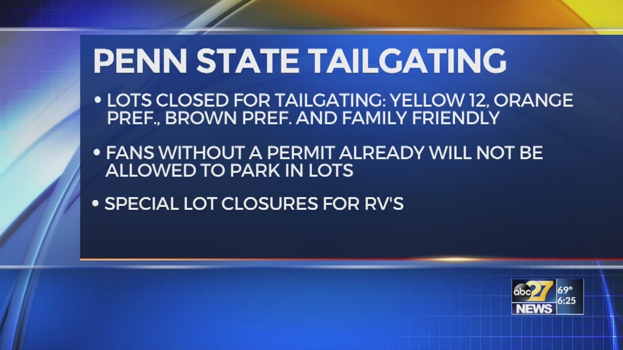 Penn State announces parking lot closures for Kent St Game