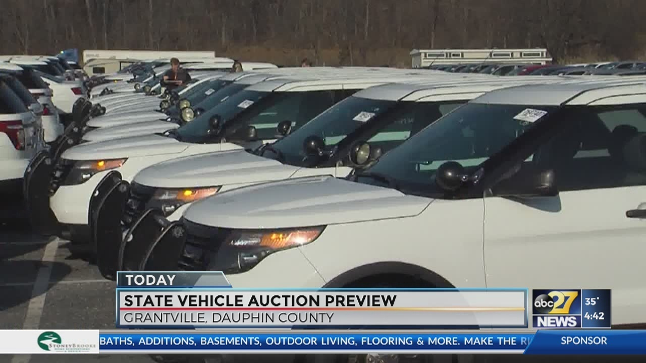 Preview State Auction Vehicles Now Through Monday