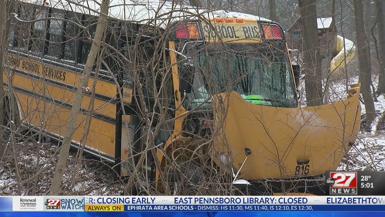 3 Central Dauphin students injured in school bus crash