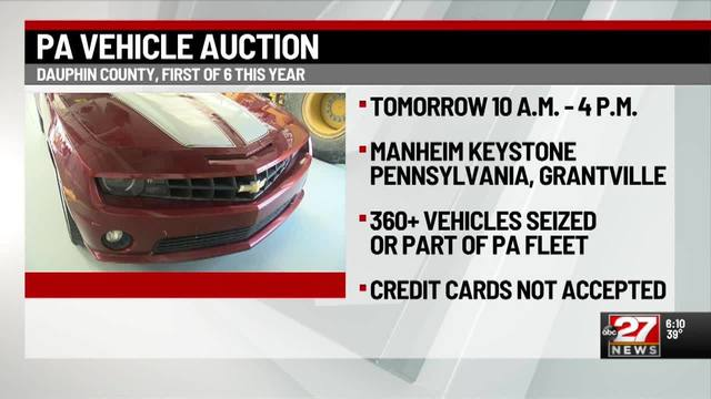 Auto Auction Pa >> Pa S First Auto Auction Of The Year Is Tomorrow In Dauphin County