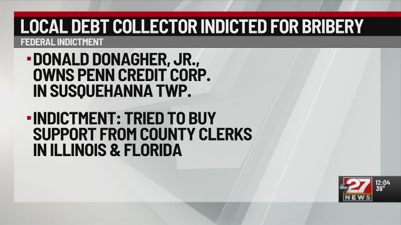 Harrisburg debt collector indicted for bribery in Chicago federal court