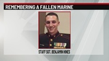 Remains of fallen marine escorted to Harrisburg area funeral home
