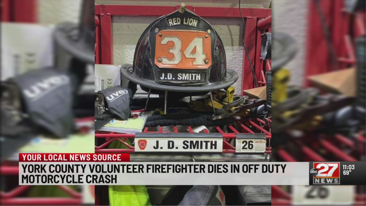 Red Lion firefighter killed in off-duty motorcycle crash