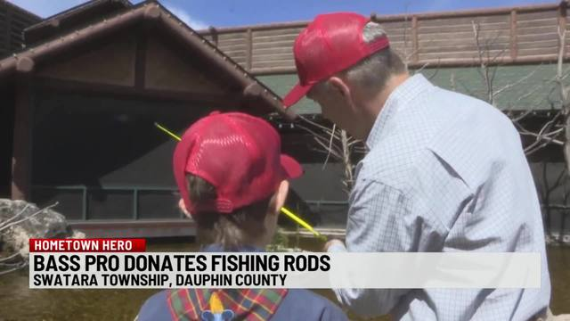 Bass Pro Shops donates fishing rods to charities